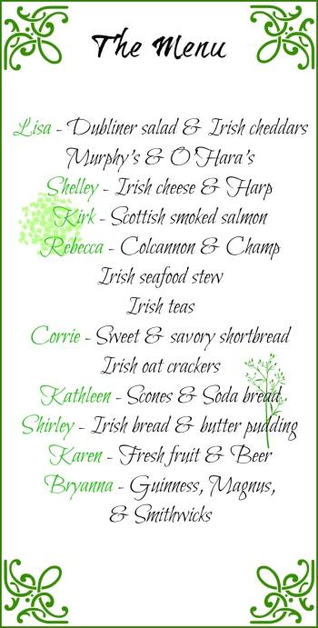Irish menu 4